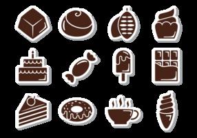 Icônes de chocolat Vecteur