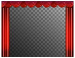 fond de rideaux rouges