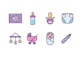 Bébé et icônes de maternité