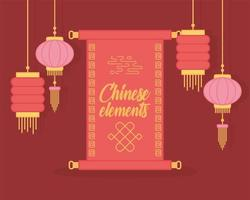 composition de lanterne chinoise