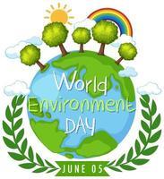 bannière de la journée mondiale de l'environnement