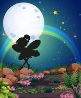 silhouette de fée dans la scène de la nature