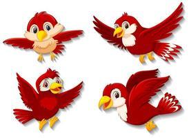 personnage de dessin animé oiseau rouge