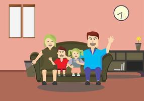 Familia Temps vecteur de fond