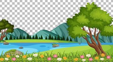 paysage de scène de parc naturel vierge