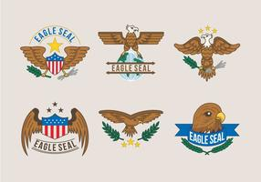 Sceau Aigle Logo Illustration Vecteur