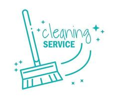 icône de pictogramme de service de nettoyage
