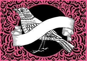 Ornement Bird & Design bannière vecteur