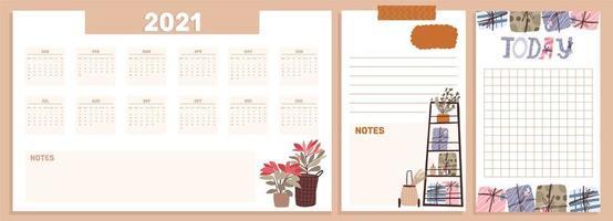 collection de célébration de vacances calendrier noël 2021 vecteur