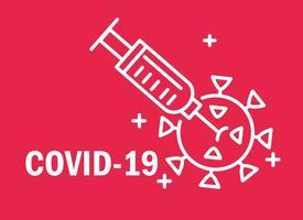 composition de covid-19 et coronavirus avec pictogramme vecteur