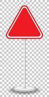 panneau de signalisation rouge vide isolé