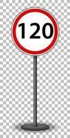 panneau de signalisation rouge isolé