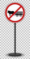 panneau de signalisation rouge isolé vecteur