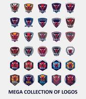 collection de modèles de logo de taureau