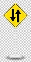 panneau d'avertissement de trafic jaune