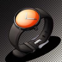 icône de montre noire isolée vecteur