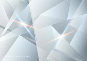 fond abstrait technologie blanc et gris vecteur