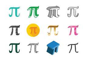 Vecteur symbole de pi