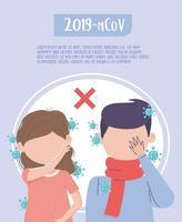affiche de modèle de prévention du coronavirus vecteur