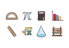 Icônes mathématiques gratuites vecteur