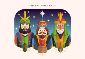 Bonne Epiphany Day Vector Illustration