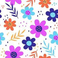 motif floral transparent coloré