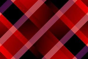 motif à carreaux dégradé de lignes diagonales rouges et noires vecteur