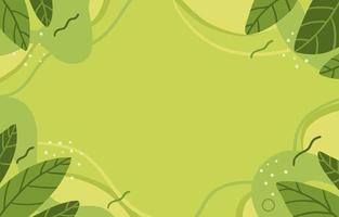 fond abstrait de feuilles vertes