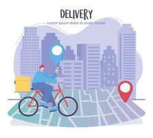 bannière de modèle de service de livraison en ligne vecteur