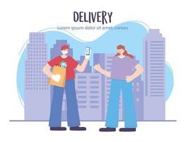 bannière de modèle de service de livraison en ligne