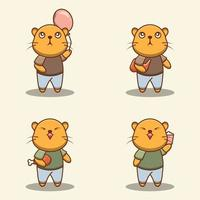 ensemble de personnages de chat mignon