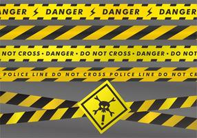 Danger Sets Tapes vectorielles vecteur