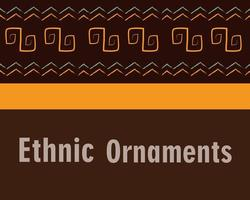 bannière de tuile de fond ornement ethnique