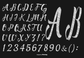 Main Sketchy Drawn Alphabet Collection vecteur