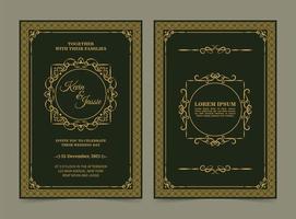 carte d'invitation de mariage classique élégante vecteur