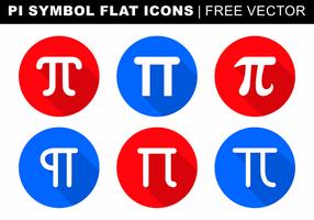 Pi Symbole Icônes plat vecteur libre