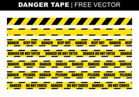 Danger Tape Vecteur libre