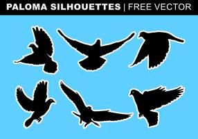 Paloma Silhouettes Vecteur libre