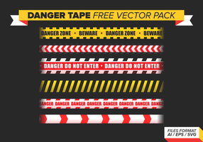 Danger Ruban gratuit Vector Pack