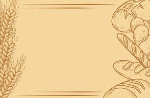 bannière de pain et de boulangerie rustique vecteur