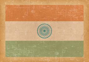 Drapeau de l'Inde sur Old Grunge Background vecteur