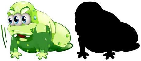 monstre avec sa silhouette