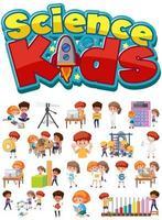 science enfants texte et ensemble d & # 39; enfants