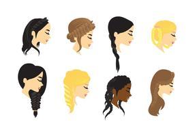 Plait cheveux Vector
