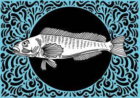 Ornement Fish Design vecteur