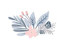 bouquet d'hiver pastel