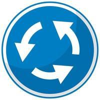 panneau de signalisation bleu sur fond blanc