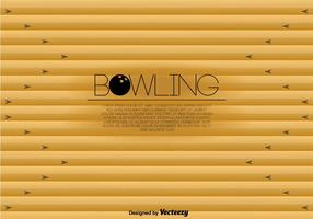 Bowling Lane Template Vector