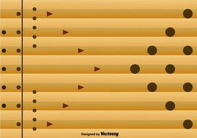 Bowling Lane Abstract Background - Vector