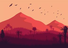 Vecteur libre sauvage Yucca Paysage